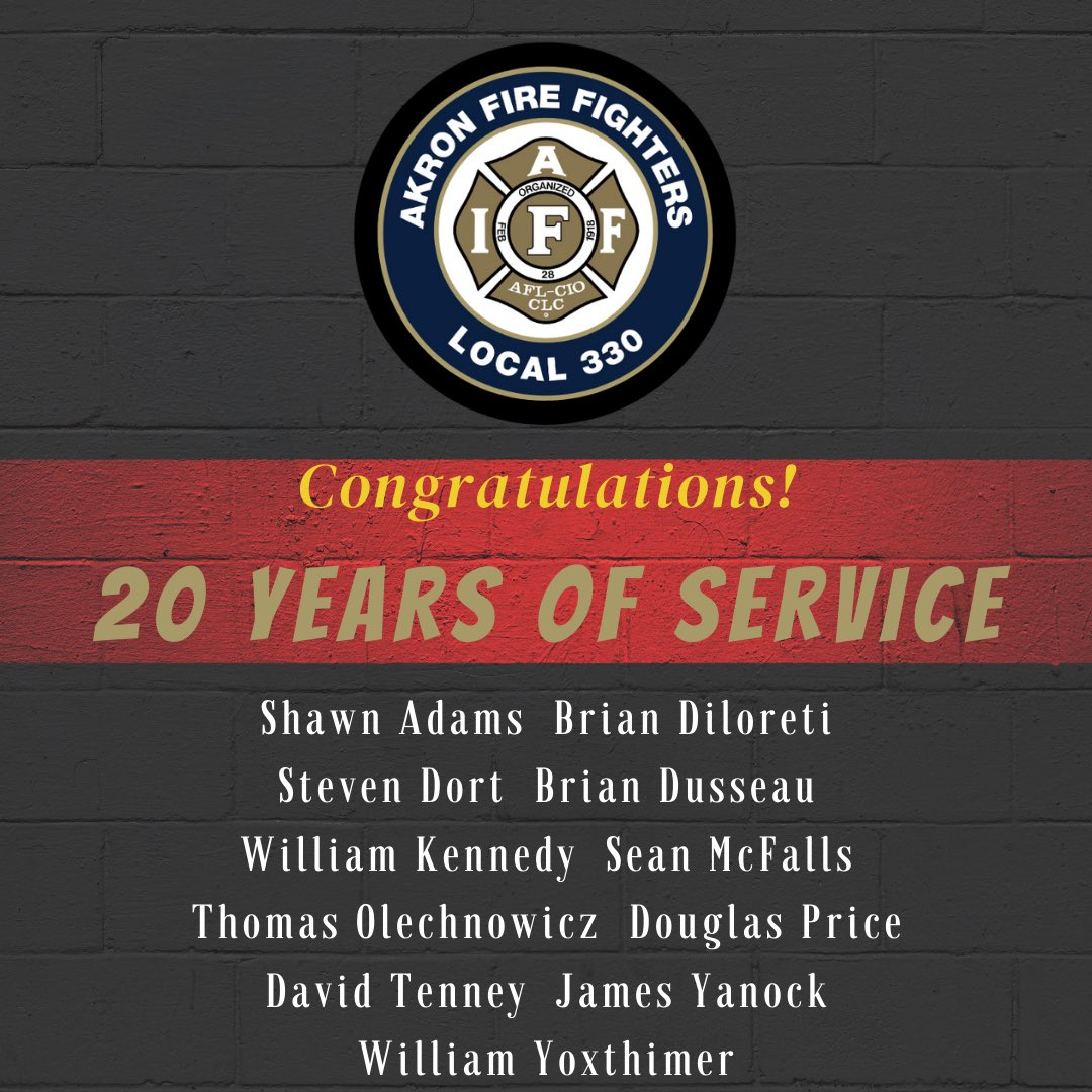 Congratulations on 20 years of service! #330forthe330