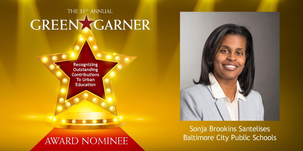 Our very own CEO, @SonjaSantelises, has been nominated for the prestigious Green-Garner Award— the highest honor in urban education. Congratulations to one of the best in the business.