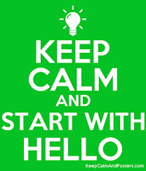 Are you nervous about introducing yourself to someone new to your school?