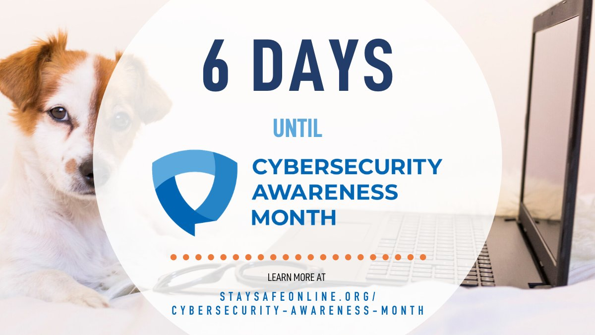 #BeCyberSmart today and every day – join us this October for  #CybersecurityAwarenessMonth to learn proactive ways to stay safe online.