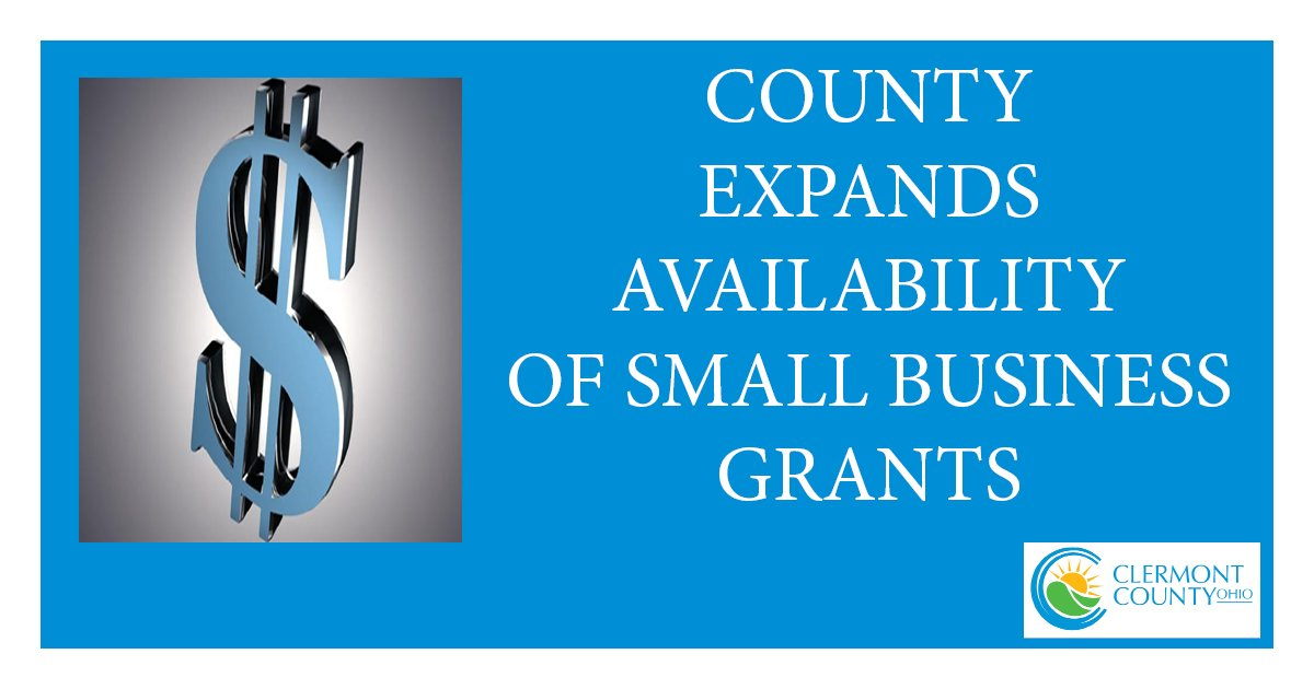 ➡️ We have broadened guidelines and extended the deadline for Coronavirus Relief Act (CARES Act) grants for small businesses. Don't wait. Deadline is 4:30 p.m. next Thursday, Oct. 1.