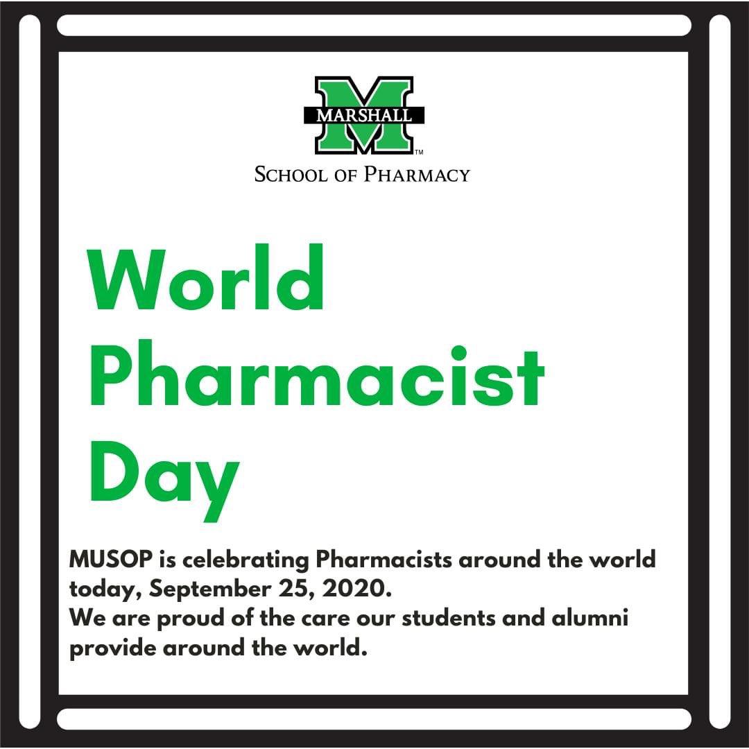 RT @MarshallPharmD: Happy World Pharmacist Day! #MUSOP #Pharmily 👩⚕️🧑⚕️👨⚕️💊