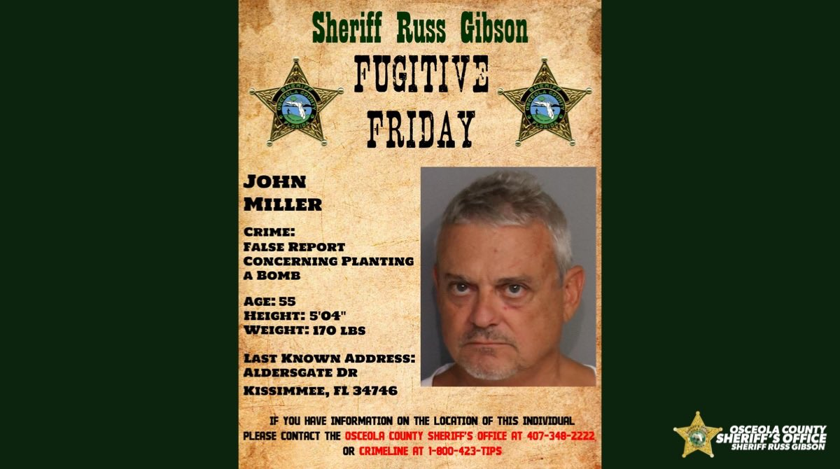 FUGITIVE FRIDAY  If you have information on the location of this individual please contact the Osceola County Sheriff's Office at 407 348 2222 or CrimeLine at 1800 423 TIPS.  #osceolasheriff #communitystrong #fugitivefriday