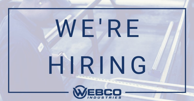 Webco has general plant openings and a Maintenance Tech position available in Oil City, PA. For more info or to apply online, please visit .  #webcotube #applytoday #manufacturingjobs #careeropportunities