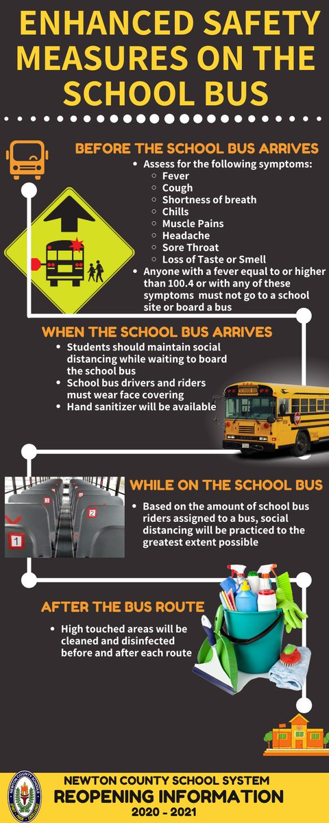 Now that we are phasing students back to in-person learning, please review our enhanced school bus safety measures. #NCSSBeTheBest
