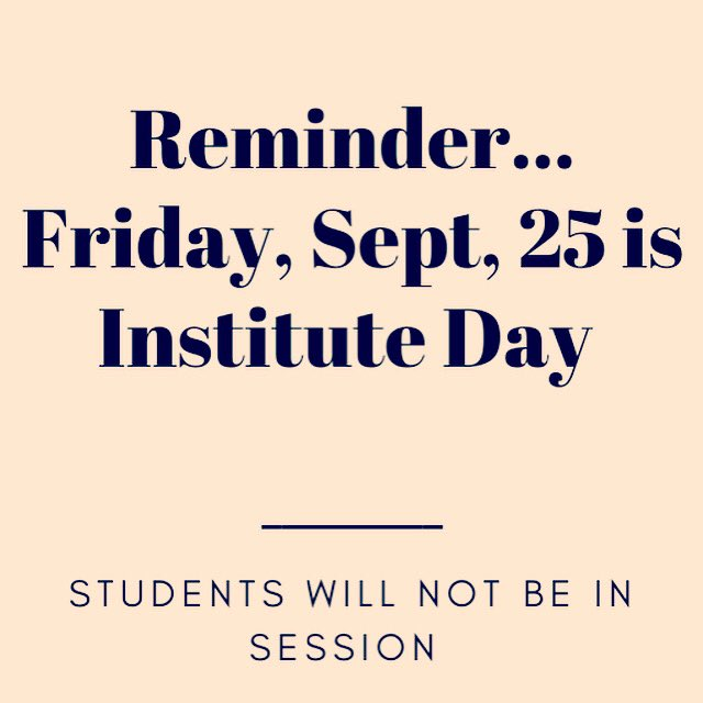 No classes today for Unit 5 students today. Enjoy the long weekend! #dayoff #instituteday #schoolcalendar #longweekend