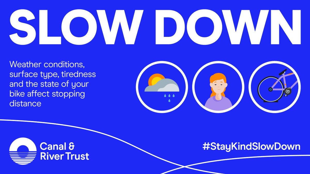 test Twitter Media - There are lots of factors to consider when cycling on a towpath - like how dry the surface is, the condition of your bike, or even if you've had enough sleep. These all affect your ability to stop safely. Consider others & #StayKindSlowDown. Read more: https://t.co/jqJpUxEorF https://t.co/SJKvKPLkpN