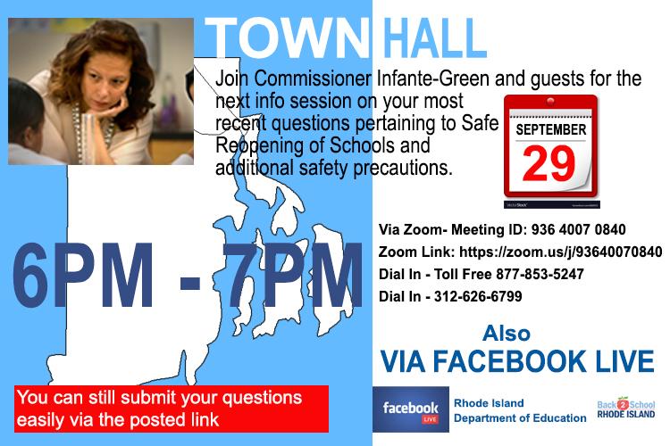 Join us for our next informational Town Hall. Zoom link for English only Town Hall on 9/29: .  ------- Acompañenos para el próximo Foro Comunitario. Enlace de zoom para Foro en español el 30 de Septiembre: . @AInfanteGreen
