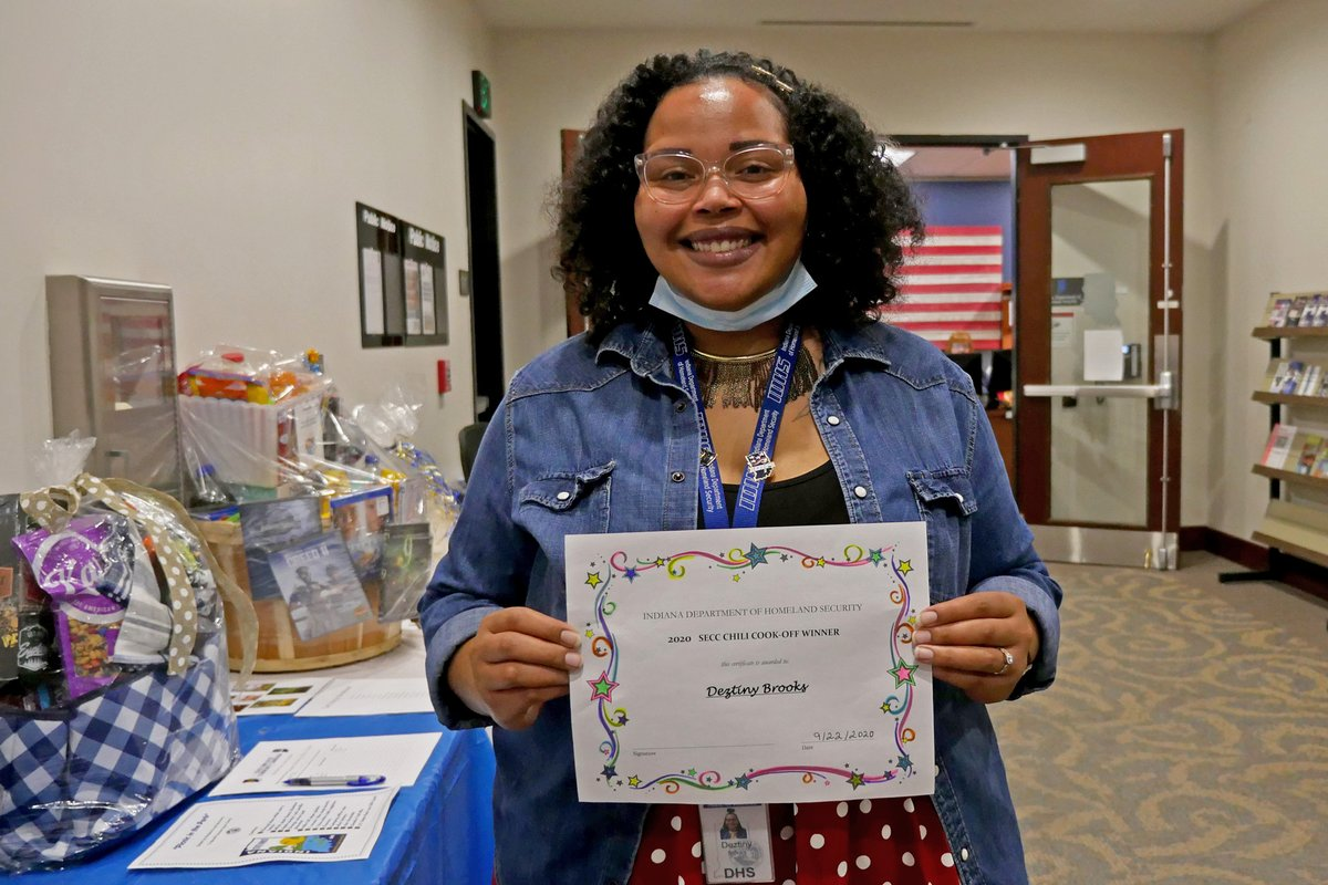Congrats to Deztiny Brooks, the winner of our annual #IndianaSECC chili cook-off!