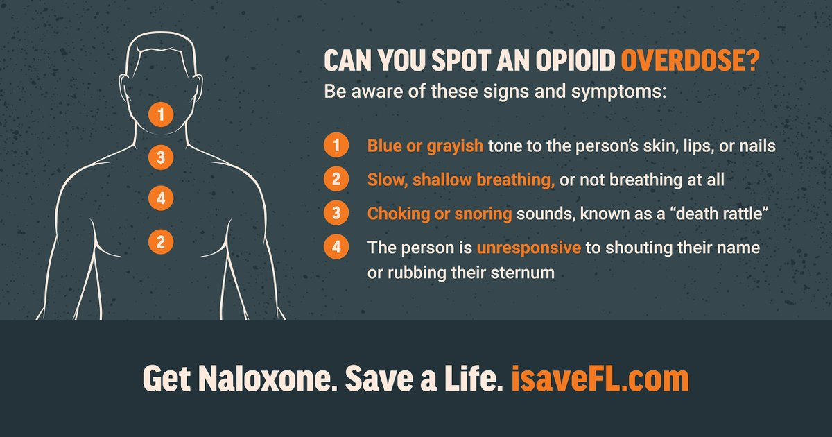 RT @MyFLFamilies: Recognizing the signs of an opioid overdose can save a life.   Learn more: