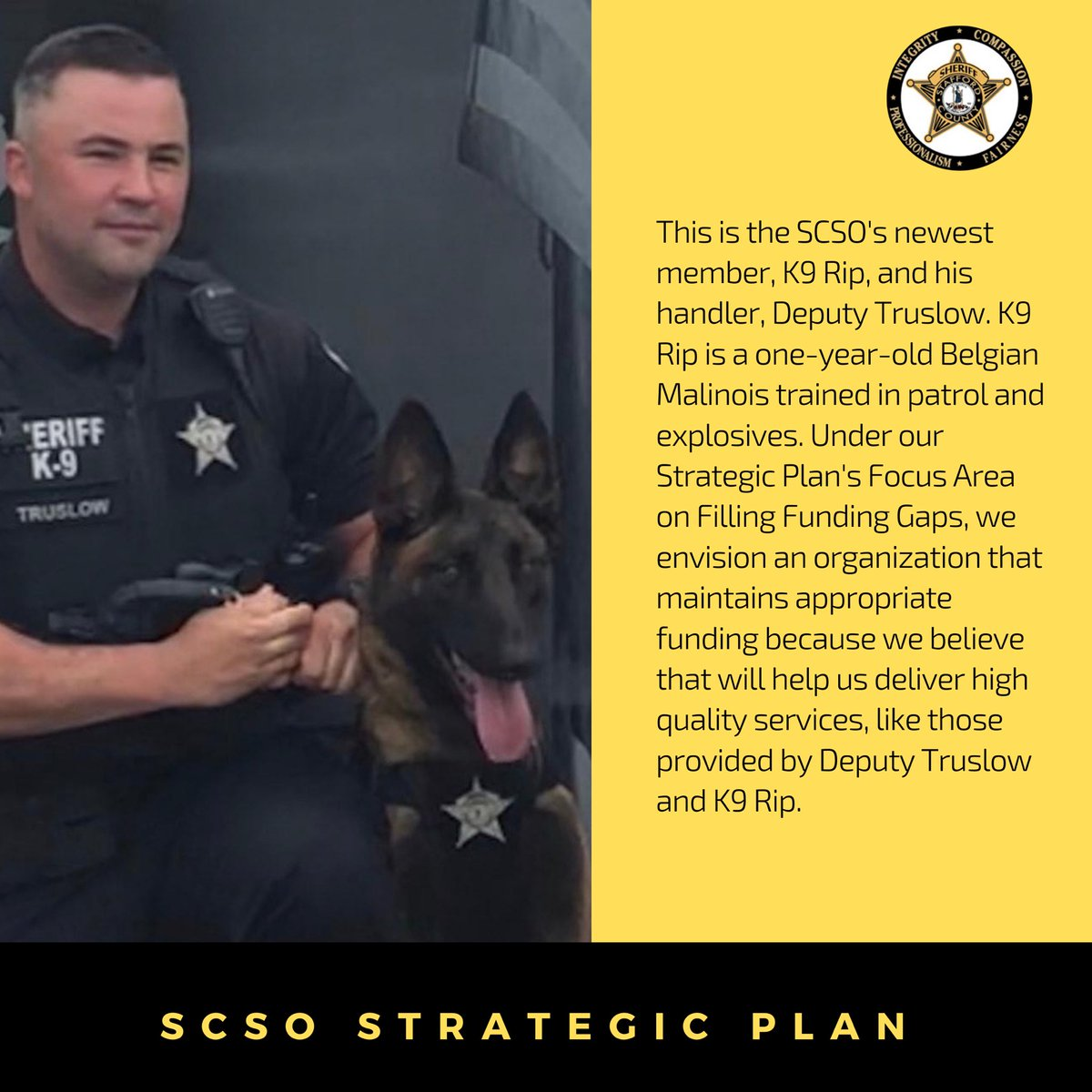 The call to public service is strong for our law enforcement officers. That's why making sure they have the best tools available to keep our community safe is a Focus Area in our Strategic Plan. Have a great Friday!