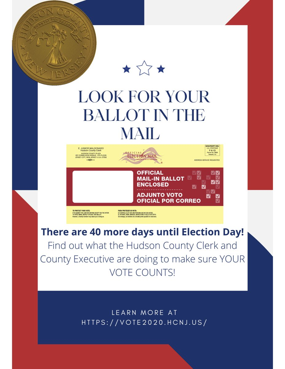HudCo Mail-in balloting page launches. Learn how to make sure your vote counts and is counted: