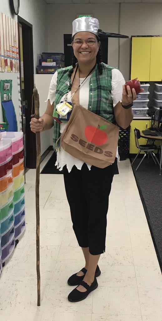 RT @KeeranLainie: Johnny Appleseed has arrived for kindergarten apple day 💚🐾💛 @LecantoPrimary #celebratelps