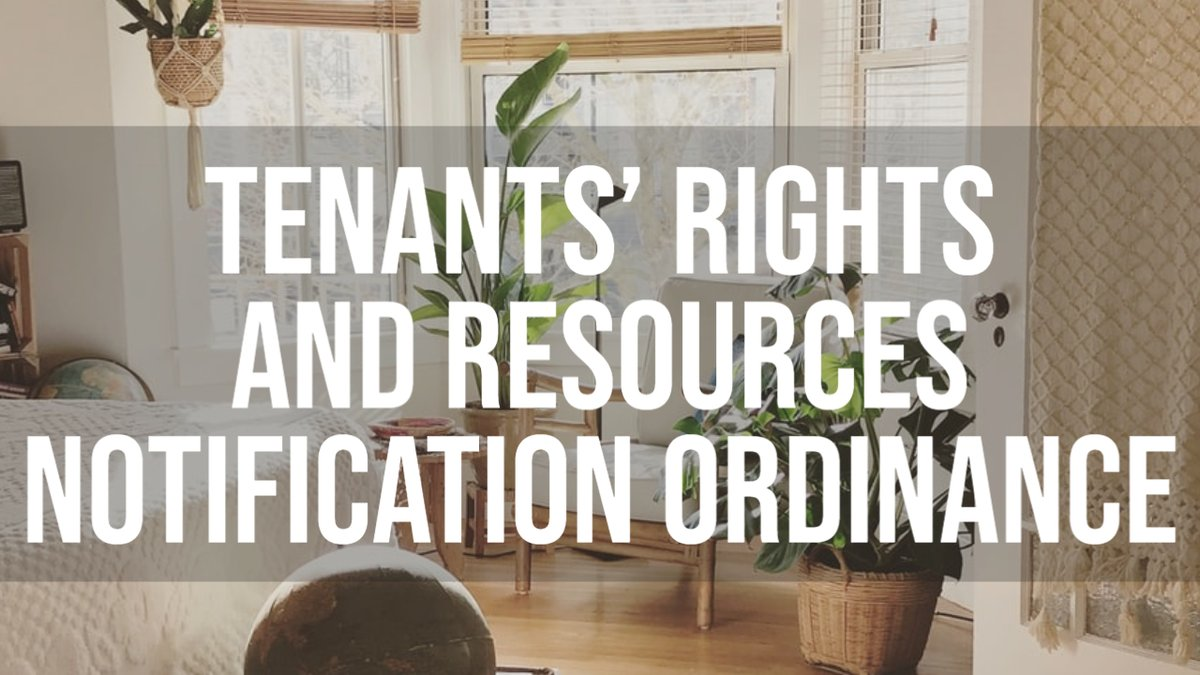 "The City of Cambridge has a new ""Tenants' Rights and Resources Notification"" ordinance which will go into effect on October 14, 2020. The purpose of the Ordinance is to inform Cambridge residents of housing rights and resources available to them -  #CambMA"