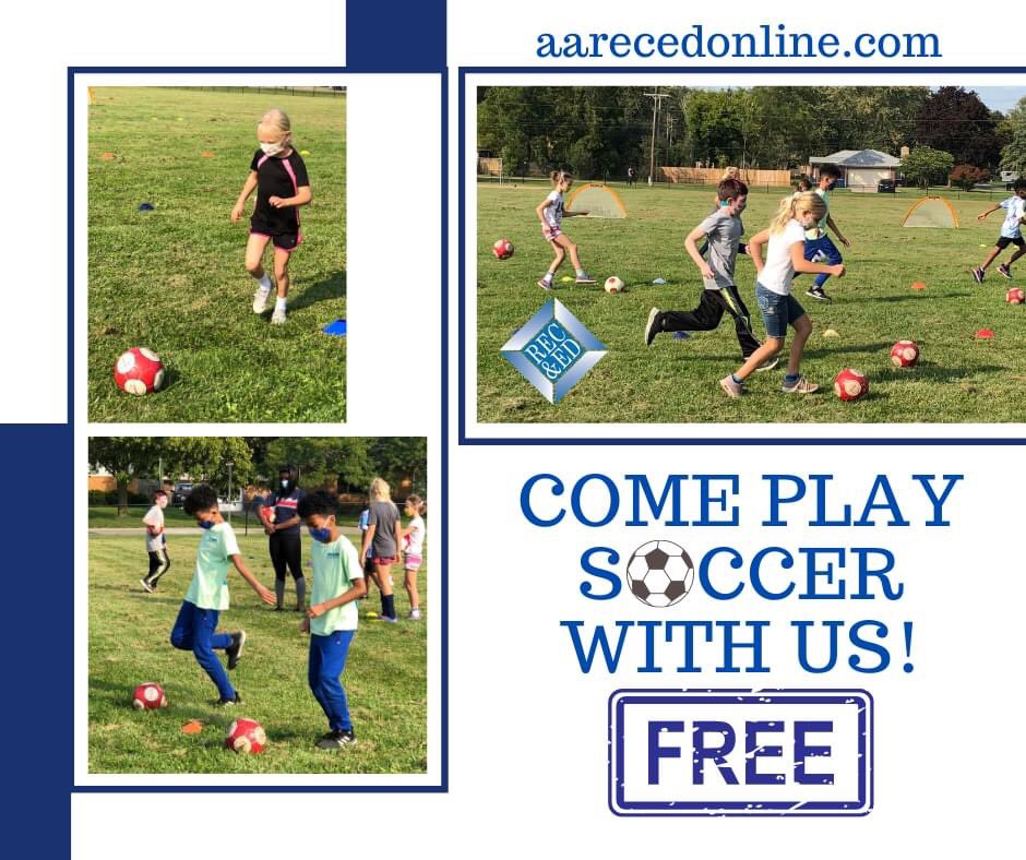 Register today & play fun,safe,#free ⚽️ tomorrow! Gr PK-5, all skill levels, multiple locations. Reg to get your game on ! @A2schools @A2SchoolsSuper @A2RecDirect #annarbor