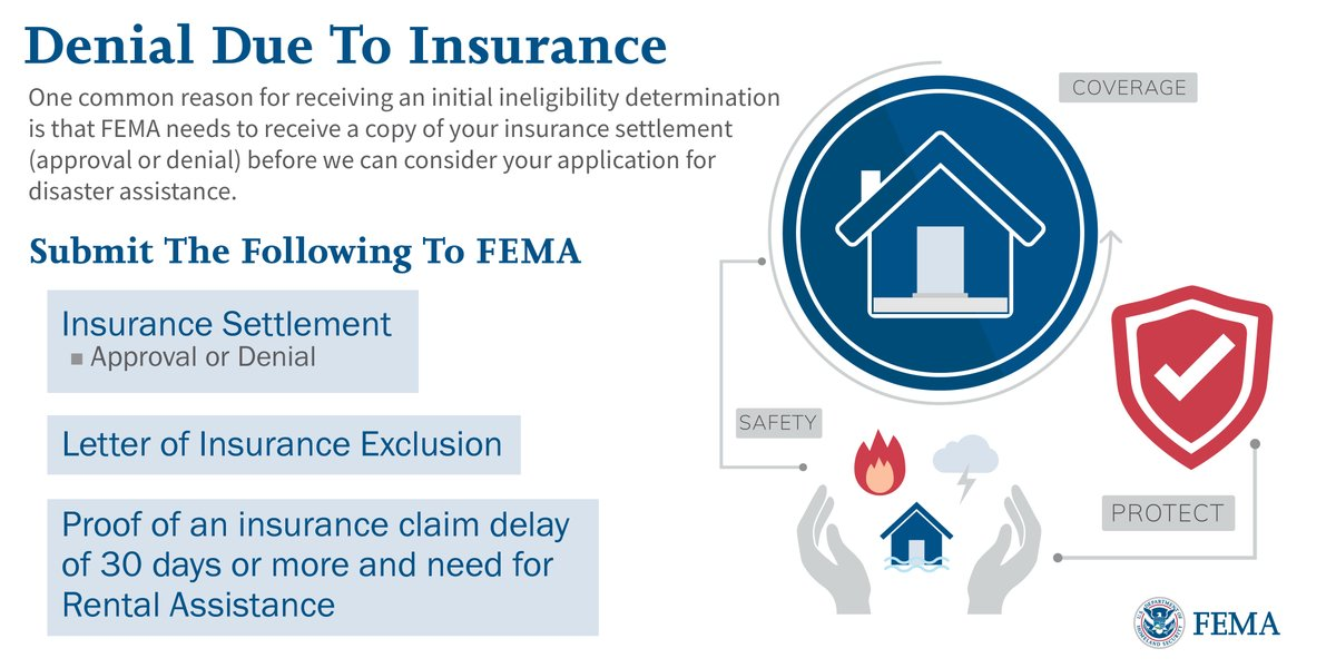 If you file a FEMA claim and receive an ineligibility letter, you willneed to Appeal, see theattach...