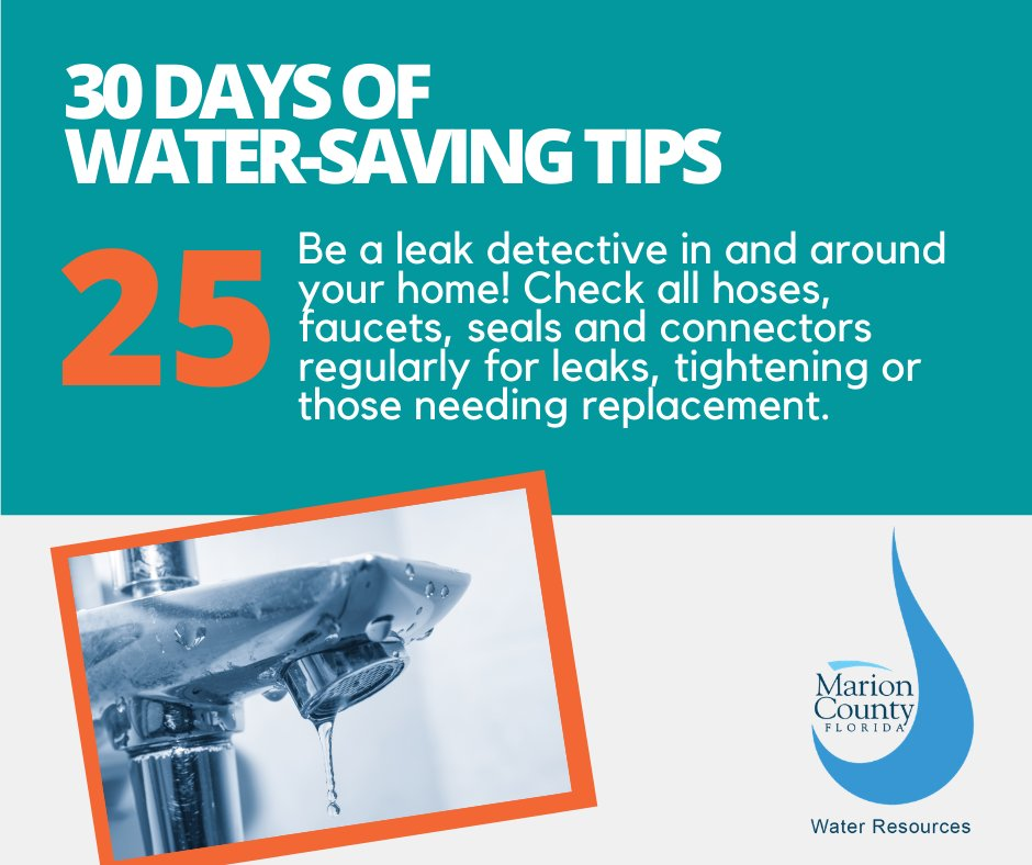 This water-saving tip is brought to you by Marion County Water Resources. For more information please visit .
