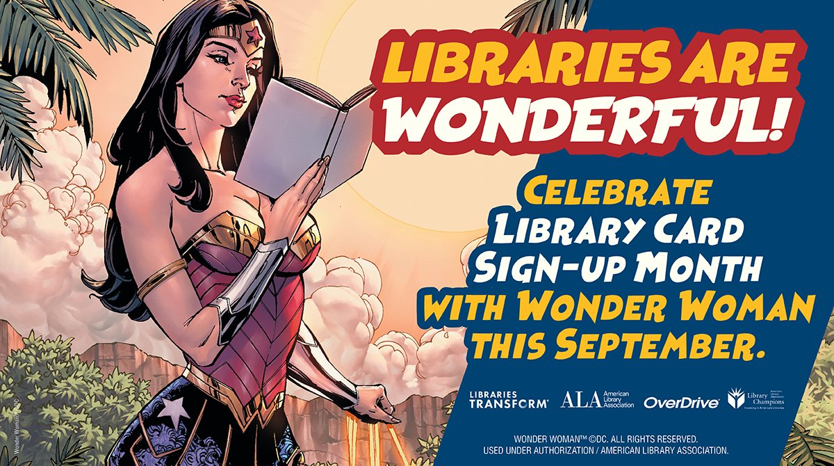 It's #NationalComicBookDay! Sign up for a library card to get free, easy access to comic books, movies, and so much more! #LibraryCardSignupMonth