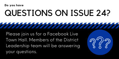Have questions on Issue 24, the BCSD operating levy on the ballot in November?  On 9/30 at 7:00 pm, a panel of school district leaders will host a Facebook Live Town Hall. Please use the Issue 24 Questionnaire posted on the BCSD website under
