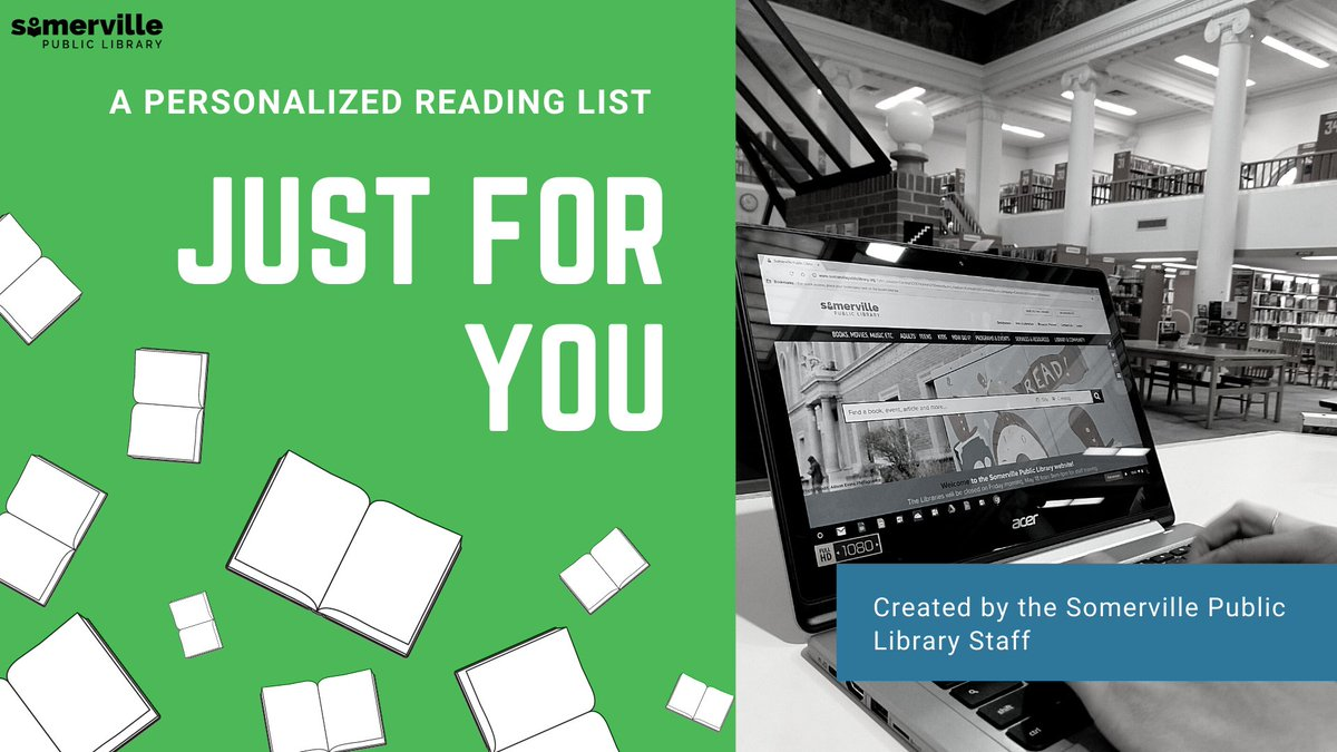 Wondering what you should read next? 🤔  Let our SPL librarians create a list of recommendations just for you! 📚  Visit:  and fill out the form. Our staff will contact you with your personalized book list!