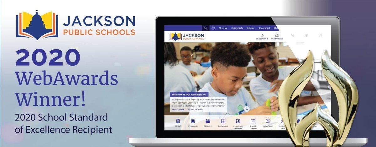 JPS Receives the 2020 WebAward for School Standard of Excellence: