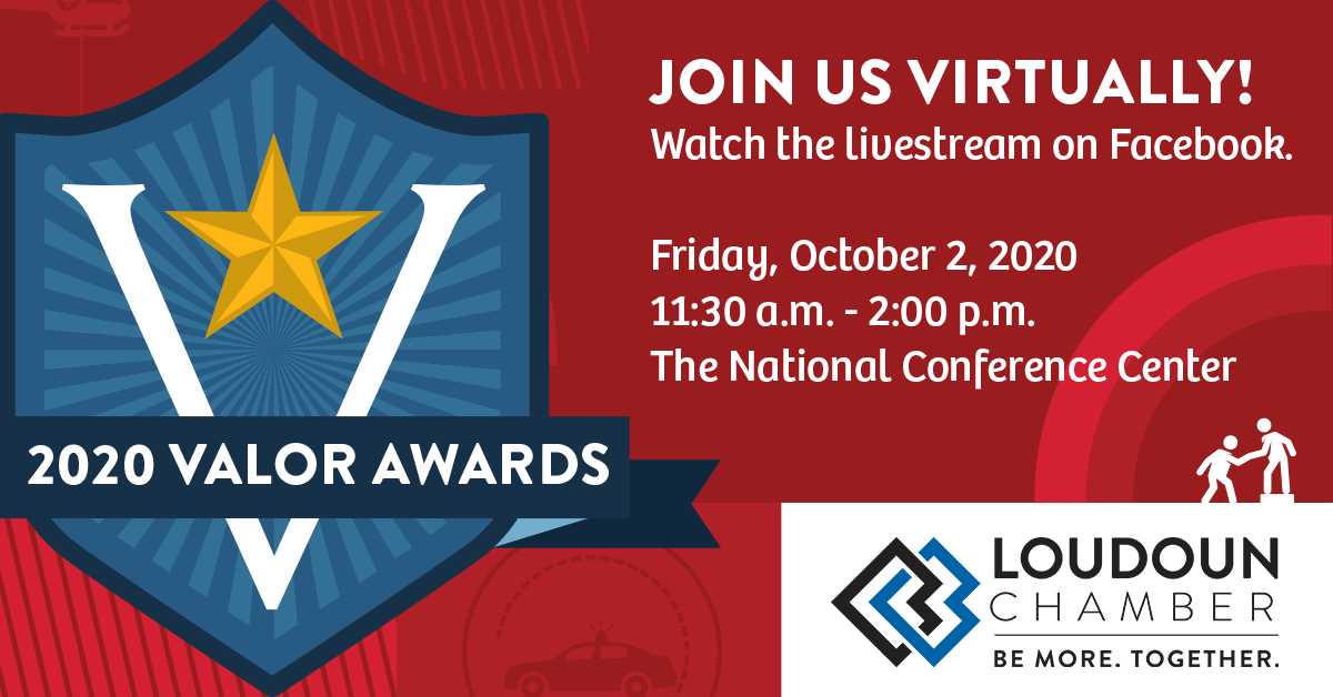 We will honor first responders & local citizens who put their lives at risk for their neighbors at our 35th Annual Loudoun Valor Awards, Friday, October 2nd. This event will be streamed on our Facebook page. Info:  #LoudounValorAwards