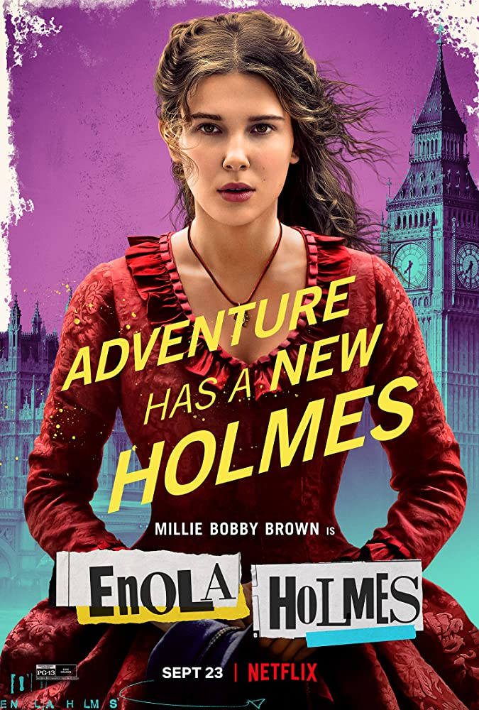 Is your family planning to watch Enola Holmes on Netflix this weekend? It's inspired by a fantastic book series - great for middle schoolers who love mysteries and Sherlock Holmes! Find them in our catalog: