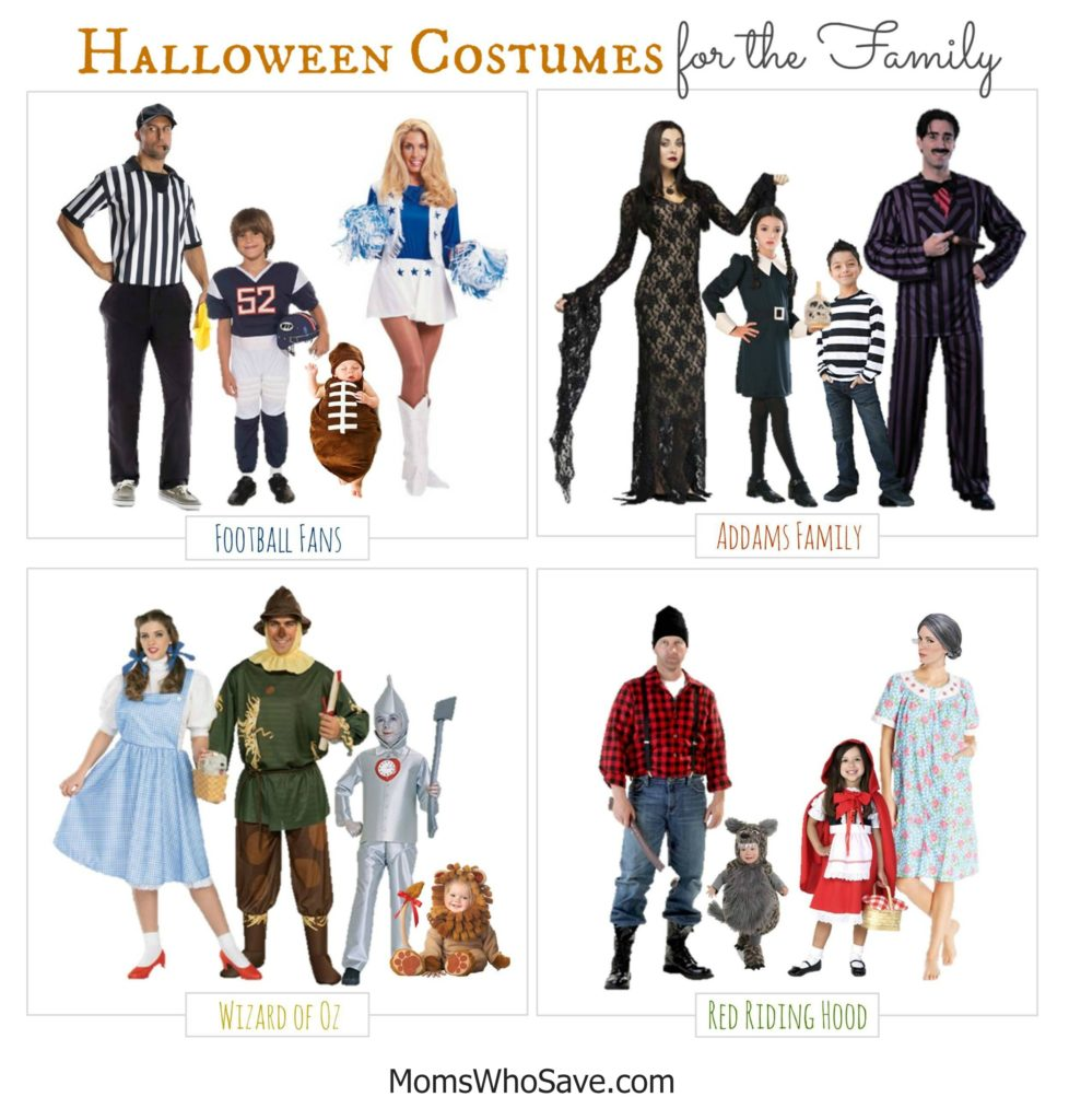 Four Fun Family #Halloween Costumes and Where to Buy    #family #costumes #WizardofOz #AddamsFamily #football