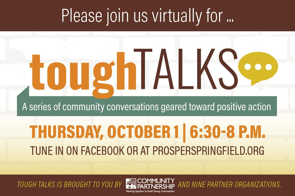 Are you registered for the first Tough Talks conversation, facilitated by Dr. Lyle Foster and Dr. Leslie Anderson? The series will launch during @MissouriState's Public Affairs Conference and centers on understanding diverse points of view. Email collaboratives@cpozarks.org.