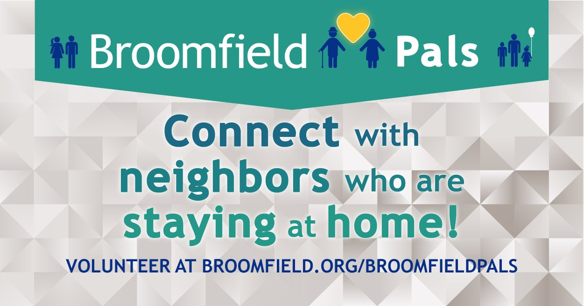 Broomfield Pals is looking for 2 volunteers to be matched with residents who need help with ongoing outdoor home maintenance. This is a great opportunity to be a good neighbor, while getting to know a Broomfield neighbor!   Apply today at .