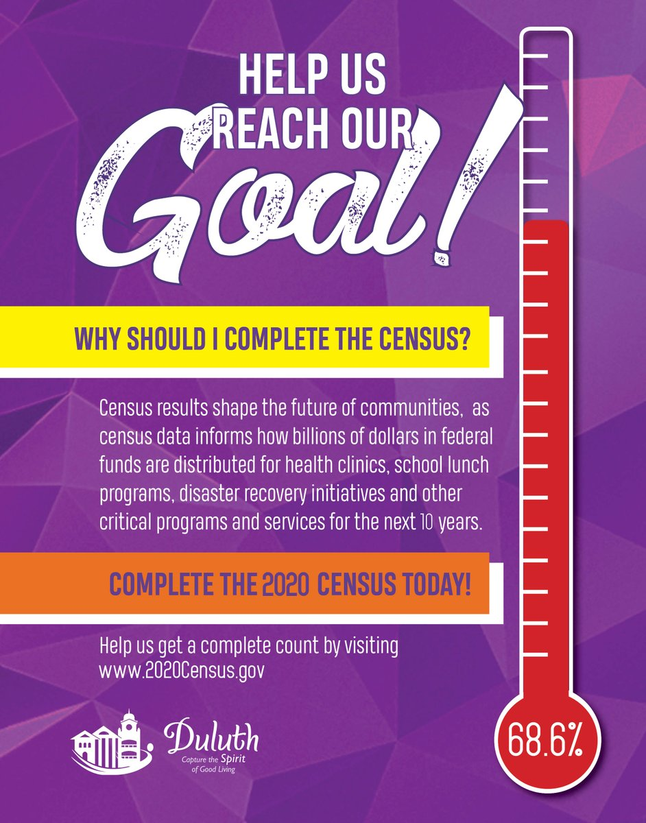 🛑 Stop Scrolling! 🛑  There are only a few days left to complete the 2020 Census! If you have not already done so, please submit your response today by visiting: .  #Census2020 #DuluthGA