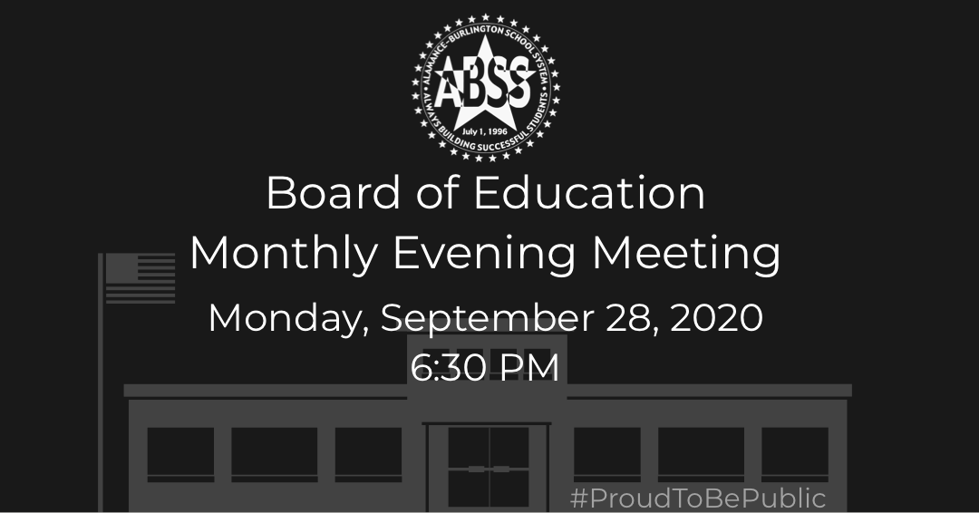 The ABSS Board of Education will hold their monthly meeting next week. Stay informed! View the agenda, submit a public comment, and watch the live stream on the website. #ProudToBePublic  🗓️ Monday, September 28 🕢  6:30 pm 🖥️
