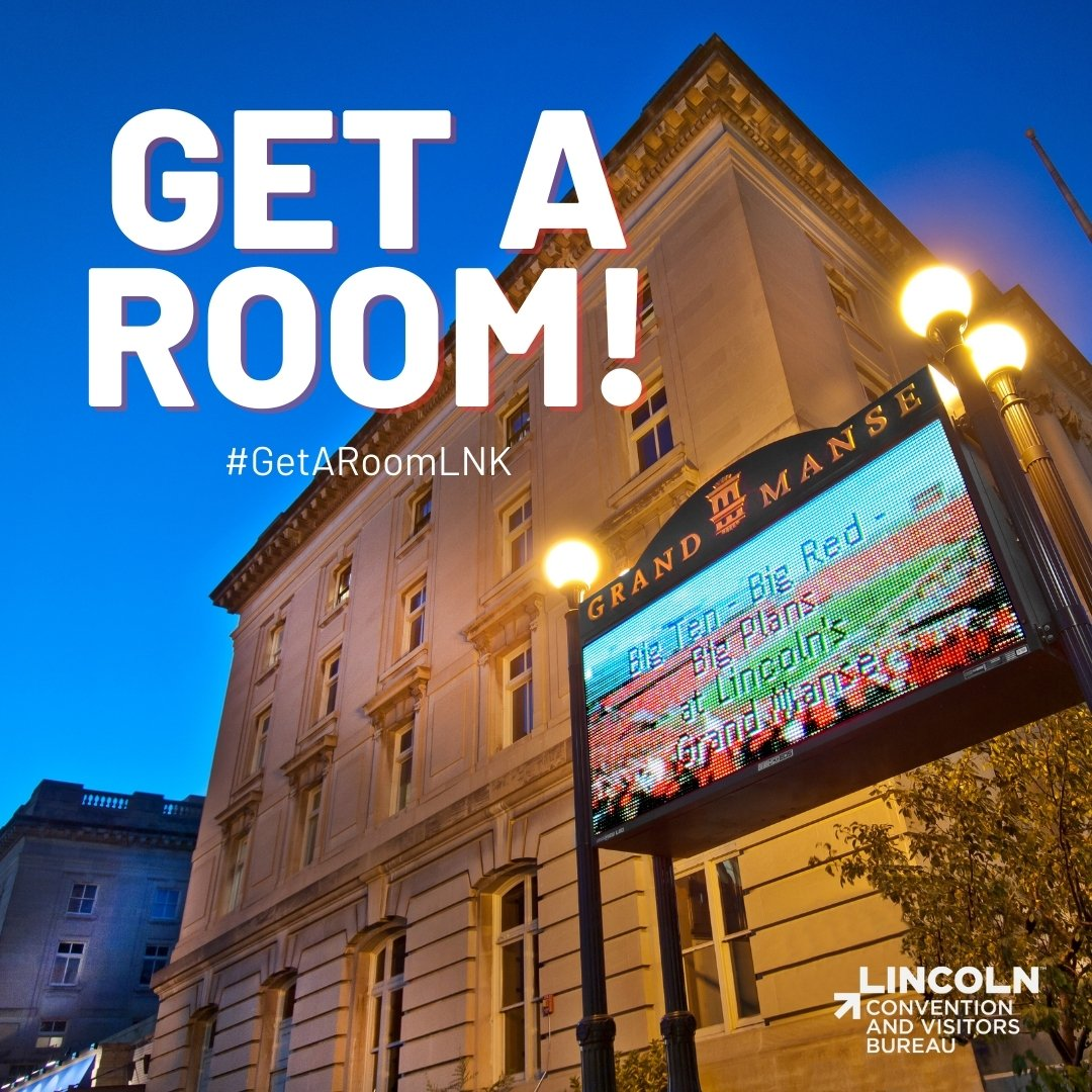 No weekend plans yet? No problem!  has you covered! Do game day the right way and get a room in LNK. #GetARoomLNK
