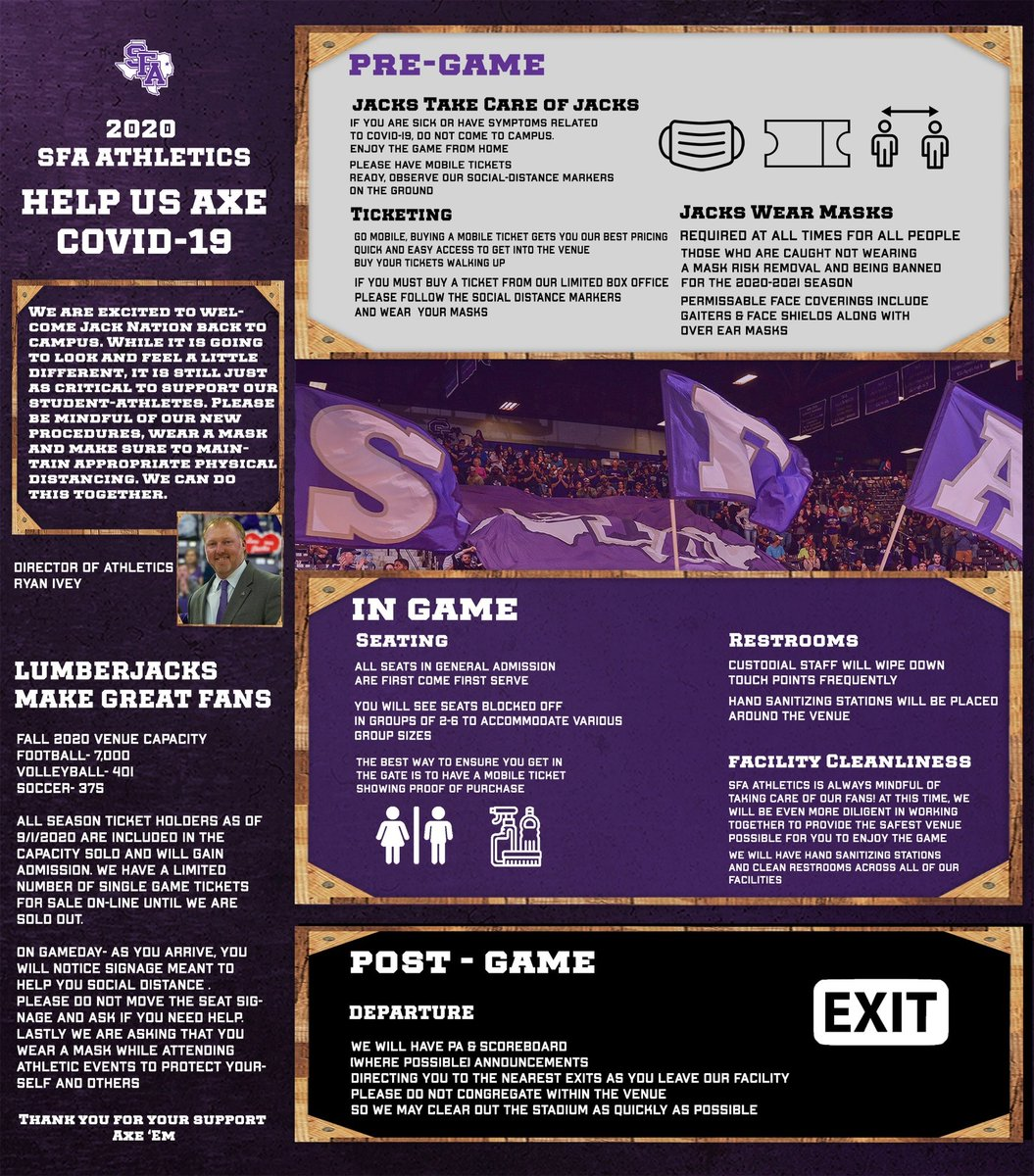 Help us axe #COVID19! Message from @SFA_Athletics   #NacChamberMember #NAC101