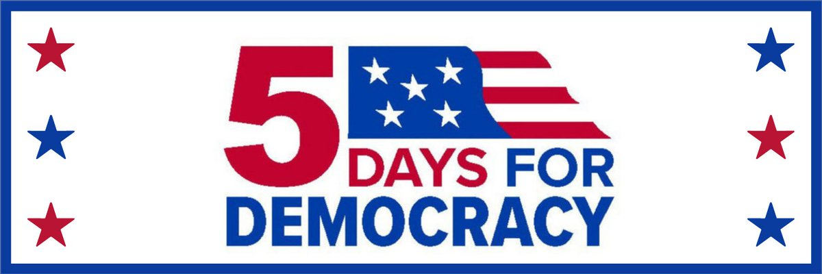 Join @TheCityClub and your local libraries for a week of civic engagement during the Five Days for Democracy.  #5Days4Democracy