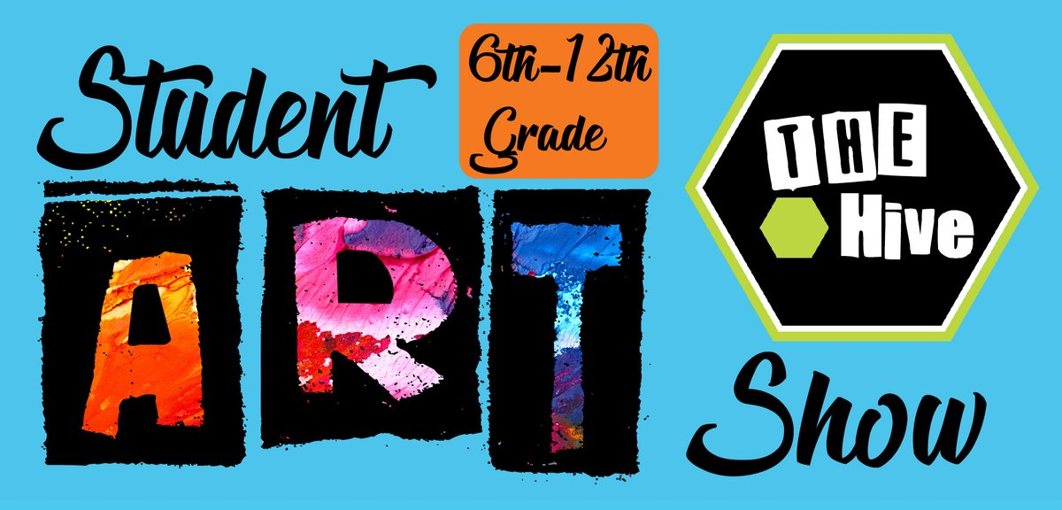 The Hive Teen Center is hosting a student art exhibition and is looking for artwork from 6th-12th grade students.  Submissions will be displayed at the Oceola Fitness Trail later this year!  Submissions are due by October 2nd!  Check out our website at: