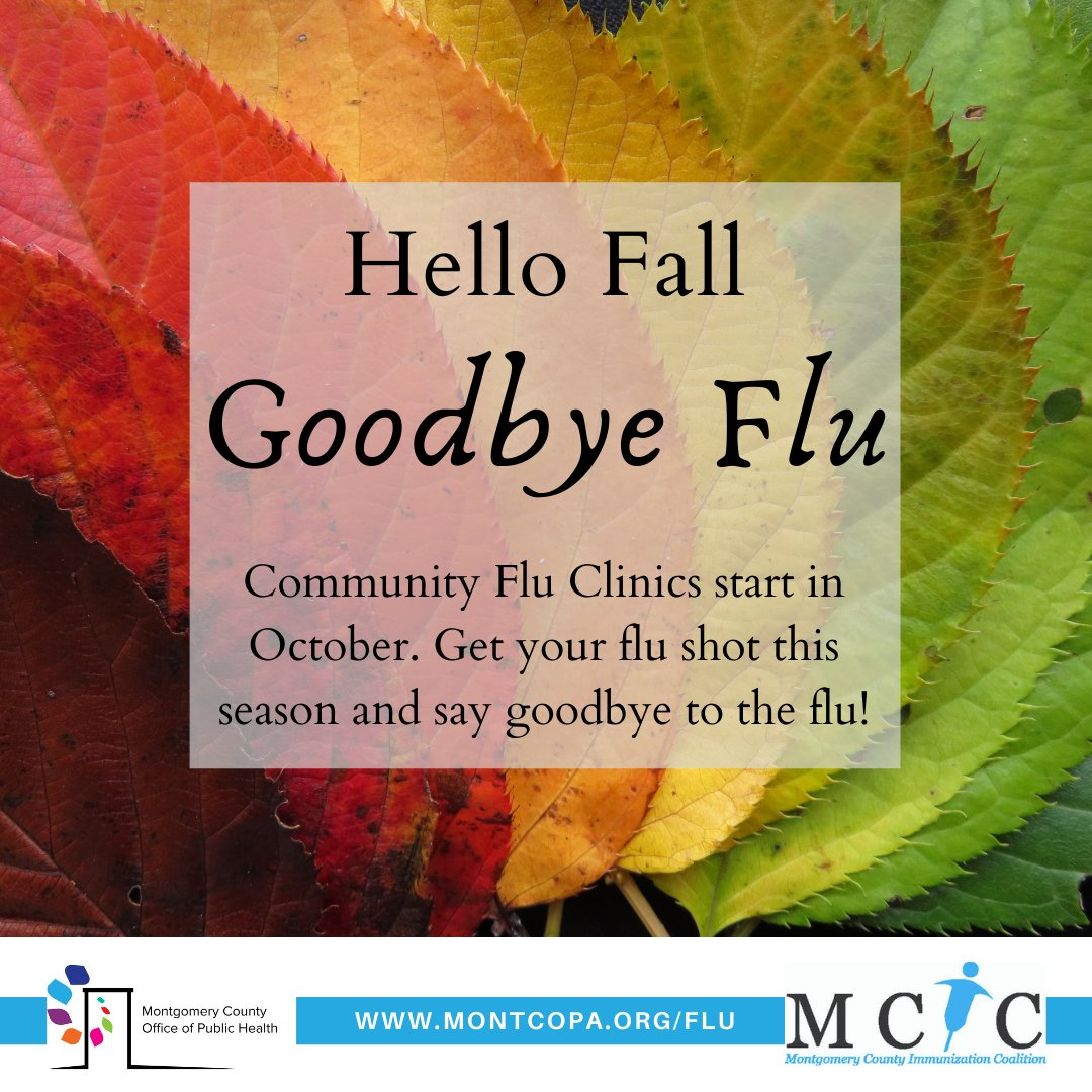 OPH is offering drive-thru & walk-up flu clinics this fall. Flu shots will be offered at no cost to people age 6 months & older who live, work, or go to school in #montcopa.    APPOINTMENTS ARE REQUIRED. To make an app't, go to  or call 610-278-5145.