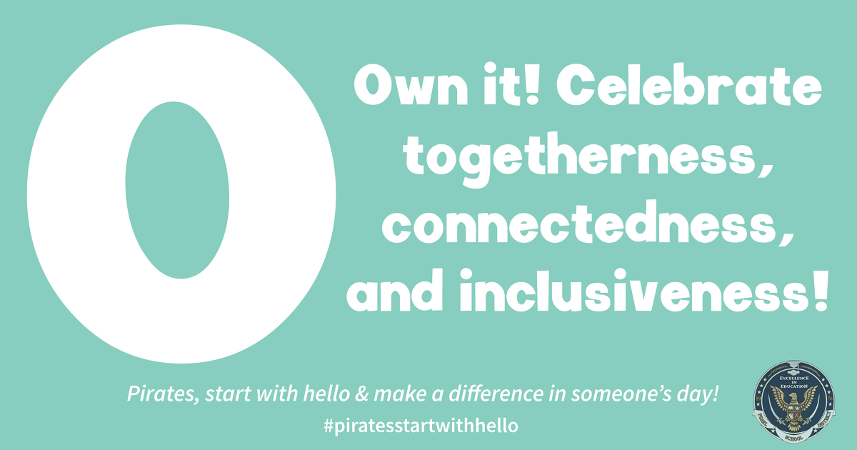 Pirates, let's continue to spread kindness, break down barriers of social isolation, and promote inclusion! #together #wearepearl #piratesstartwithhello