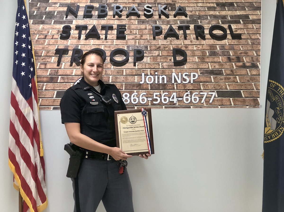 RT @NSP_TroopD: Congratulations Trooper Gardine.  We are fortunate to have you part of our team.