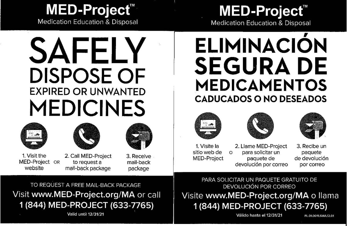 Safely Dispose of Expired or Unwanted Medicines. We also have a drop-off box in our lobby for medication disposal.