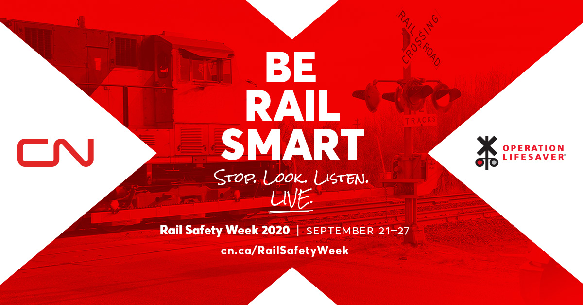 Sept. 21-27 is #RailSafetyWeek. By joining efforts, we can prevent railroad crossing/trespassing accidents. Learn more at
