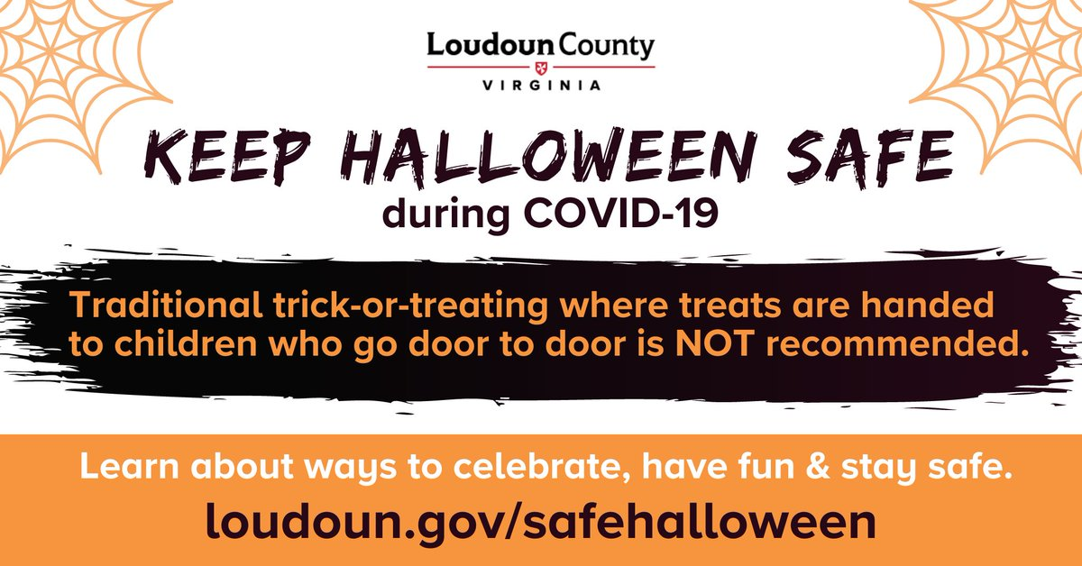 #Loudoun officials are offering guidance on how to have a safe Halloween during the COVID-19 pandemic. Many traditional activities are considered high risk, but there are safe ways to celebrate. Details here: