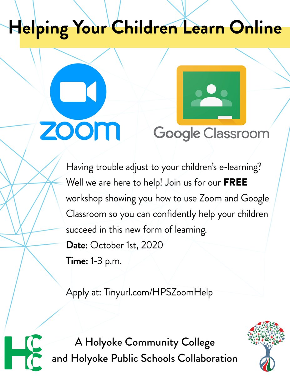 Having trouble adjusting to your child's e-learning? Well, there's help! Join the workshop on 10/1 on Zoom and Google Classroom so you can confidently help your children succeed in this new form of learning. @DrAVM2015 @HpsFamily   More: