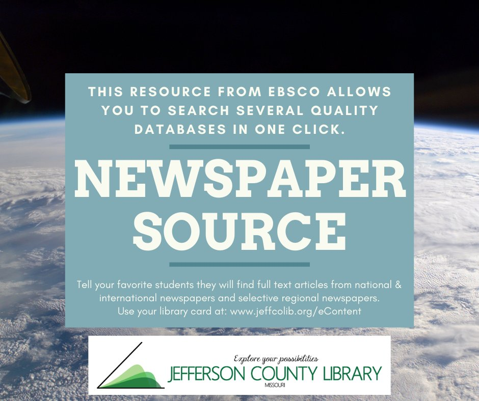Try this online resource for your next research project. It's free with your JCL library card.