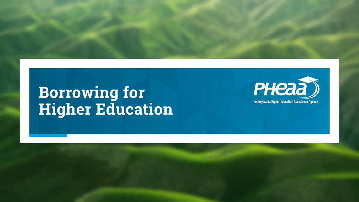 PHEAA presents Borrowing for Higher Education, a series of webinars. There are two left, Sept. 29 and Oct. 1. Register now to learn more about how to strategically borrow to help pay for higher ed.