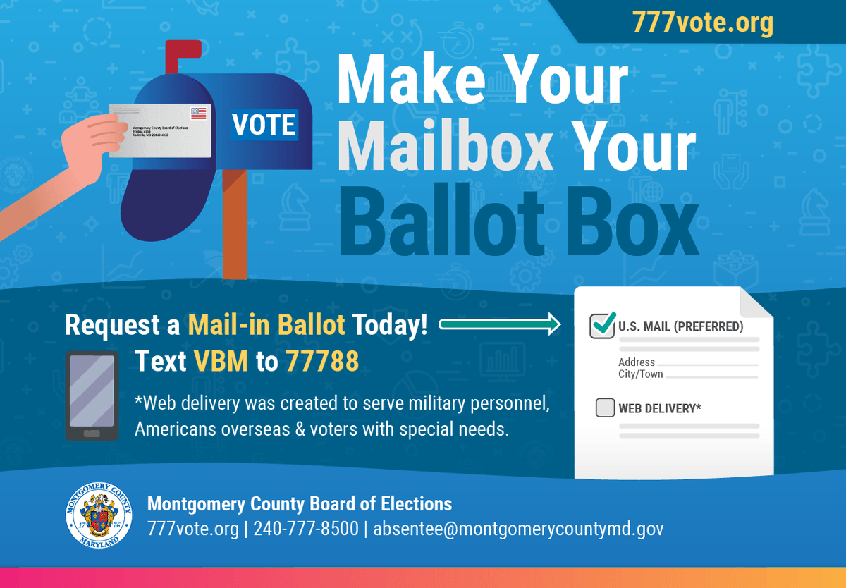Now is the time to request your mail-in ballot. To vote by mail, you must request a ballot. Learn more: . @777Vote