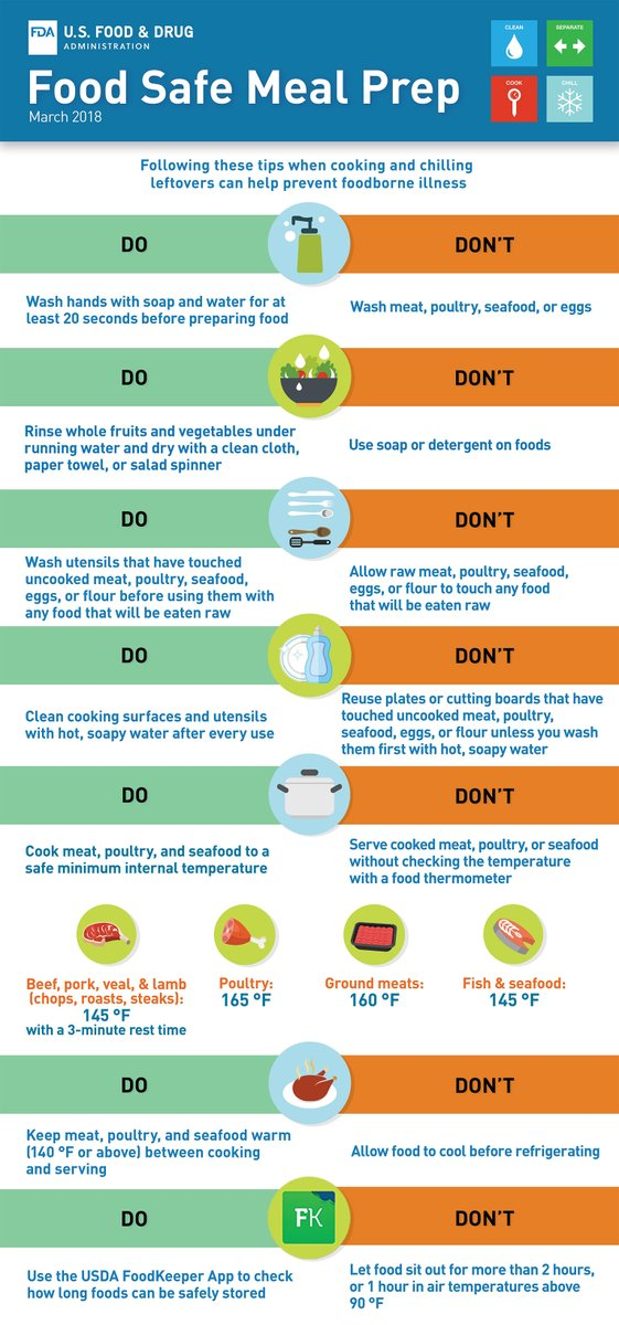 Practice food safe meal prep. Following these tips when cooking and chilling leftovers can help prevent foodborne illness. #FoodSafetyFriday