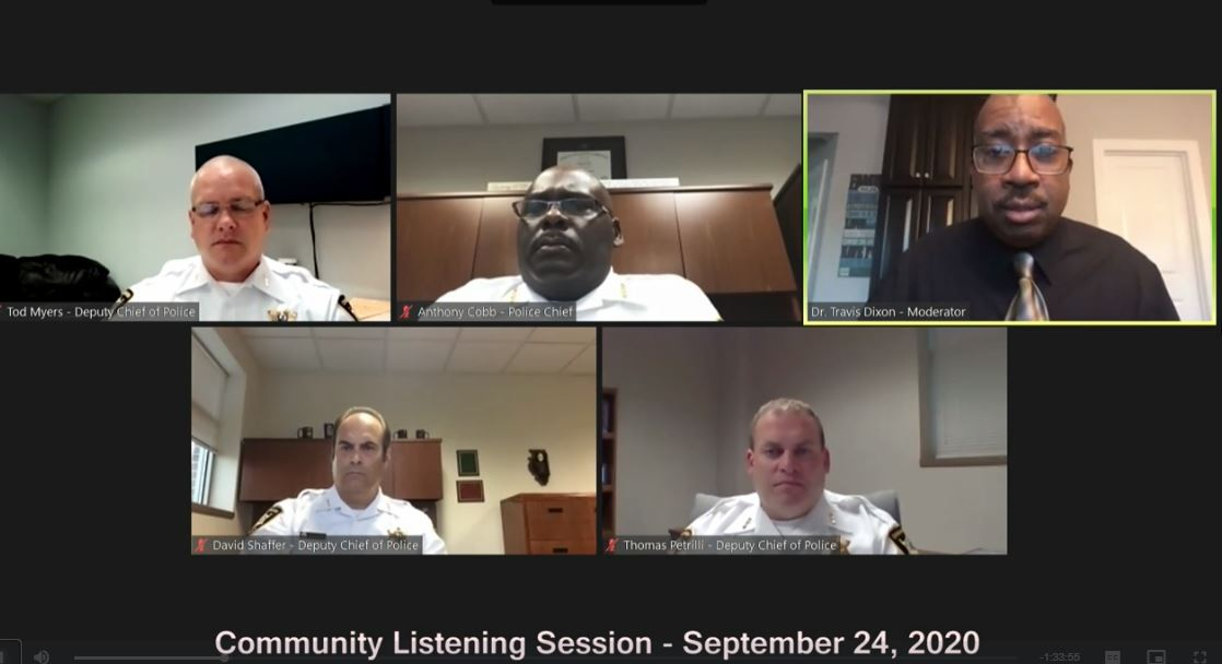 Last night's Community-Police Listening Session has been posted online for on-demand viewing -    Our next Listening Session is Tuesday, September 29 at 6 pm. Please join in the conversation! Details and Zoom link at .