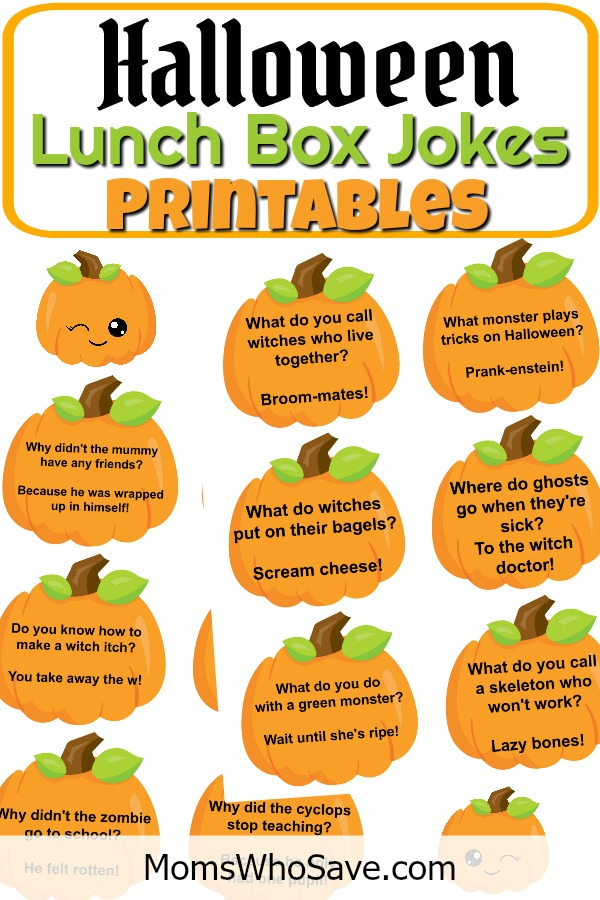 Parents, Don't Miss These #Free #Halloween Lunch Box Jokes Printables 🎃 Two pages of freebies!  >>   #deals #printables