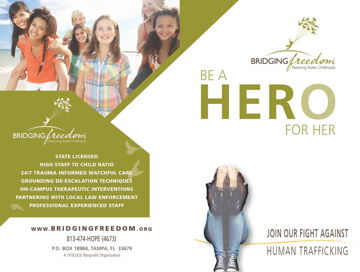 Bridging Freedom is looking for heroes who can assist in the fight against human trafficking. Take a look at the flyer to learn more and see how you can get involved.